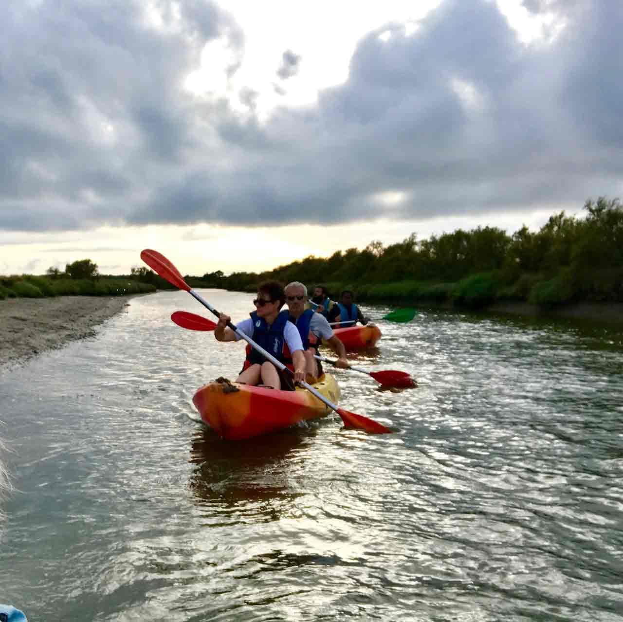 Sorties canoës au ras de l'eau à Olonne sur mer